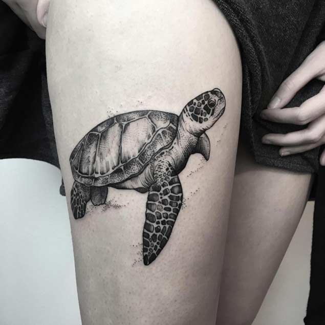 85+ Best Sea Turtle Tattoo Designs & Meanings - (2019)