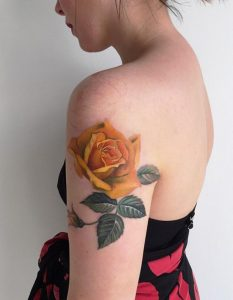 Images of Yellow Rose Tattoo