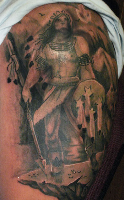 Warrior Tattoos Designs, Ideas and Meaning | Tattoos For You | 395 x 638 jpeg 87kB