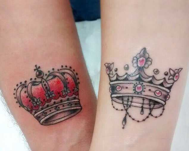 queen crown tattoos designs ideas and meaning tattoos. Black Bedroom Furniture Sets. Home Design Ideas