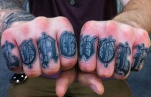 Knuckle Tattoos Words