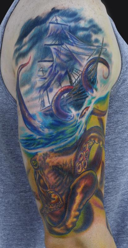 Kraken Tattoos Designs, Ideas and Meaning | Tattoos For You
