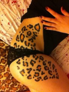 Leopard Print Hip Tattoo