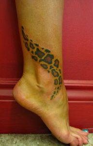 Leopard Print Leg Tattoos