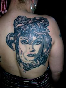 Medusa Tattoo Girl