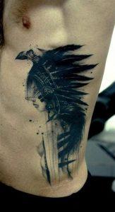 Mens Rib Cage Tattoos