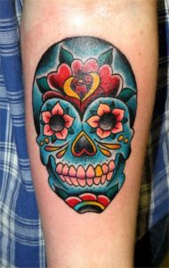 Mexican Candy Skull Tattoo
