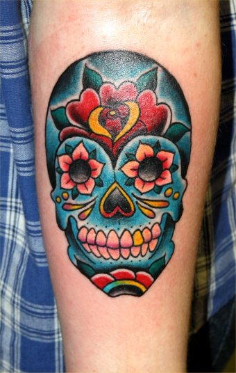 candy skull tattoos designs ideas and meaning tattoos for you. Black Bedroom Furniture Sets. Home Design Ideas