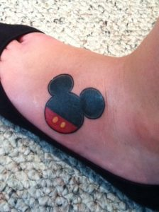 Mickey Mouse Ears Tattoo