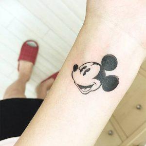 Mickey Mouse Head Tattoos