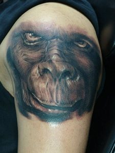 Monkey Face Tattoo