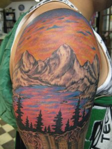 Mountain Scenery Tattoos