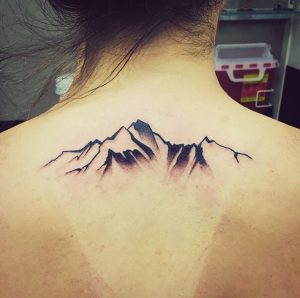Mountain Tattoo Back