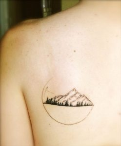 Mountain Tattoo on Back