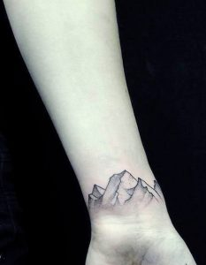 Mountain Tattoo on Wrist