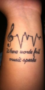Music Heartbeat Tattoos