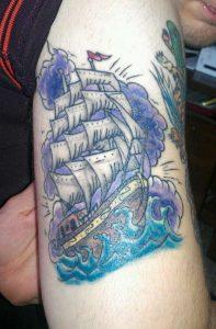 Navy Ship Tattoo