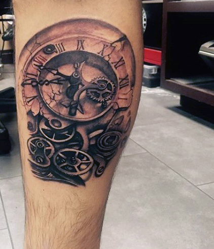 clock tattoos designs ideas and meaning tattoos for you. Black Bedroom Furniture Sets. Home Design Ideas