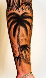 Palm Tree Sleeve Tattoos