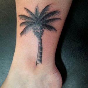 palm tree tattoo black and white - photo #4
