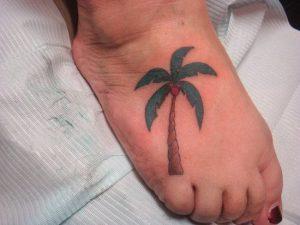 Palm Tree Tattoos on Foot