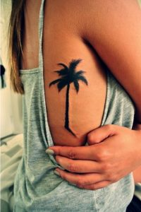Palm Tree Tattoos on Ribs