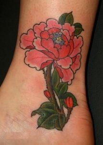 Peony Flowers Tattoo