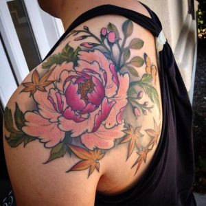 Peony Tattoo Shoulder