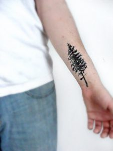 Pine Tree Tattoo Forearm