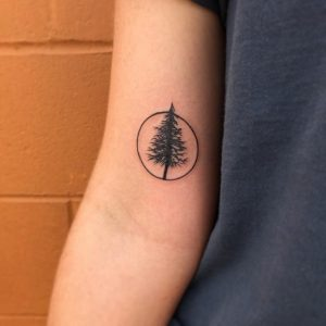 Pine Tree Tattoo Small