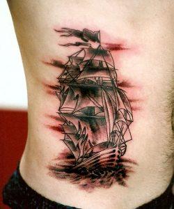 Pirate Ship Tattoo Design