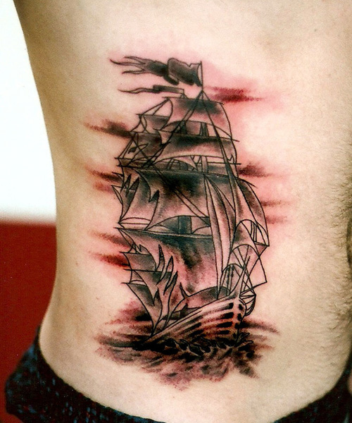 pirate ship tattoos designs ideas and meaning tattoos for you. Black Bedroom Furniture Sets. Home Design Ideas