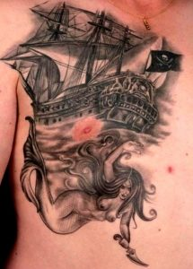 Pirate Ship Tattoo Designs