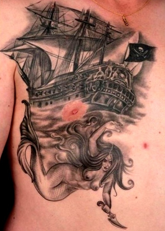 Pirate ship tattoos designs ideas and meaning tattoos for Pirate tattoo meaning
