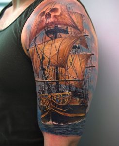 Pirate Ship Tattoo Images