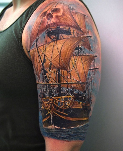 Pirate Ship Tattoos Designs, Ideas and Meaning | Tattoos ...