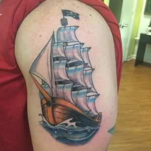 Pirate Ship Tattoo Pictures