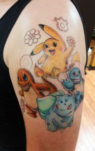 Pokemon Tattoos for Guys