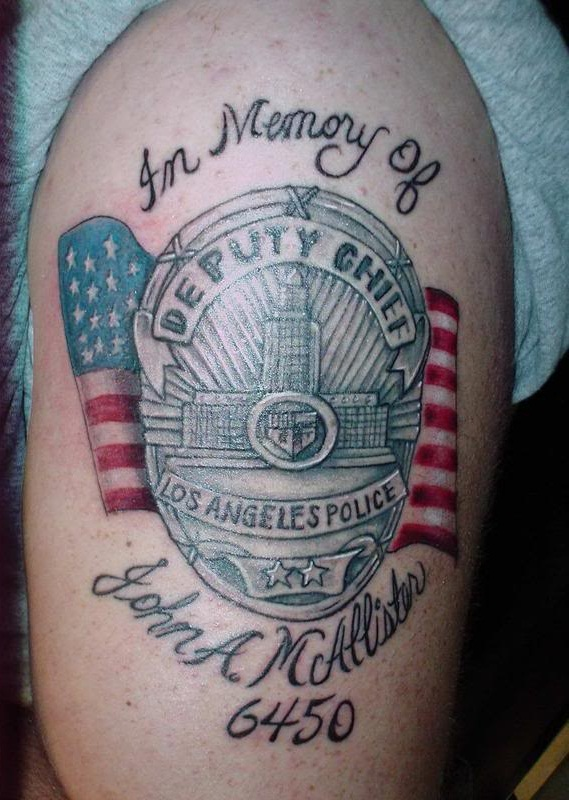 Police tattoos designs ideas and meaning tattoos for you for Law enforcement memorial tattoo
