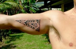 Polynesian Triangle Tattoo