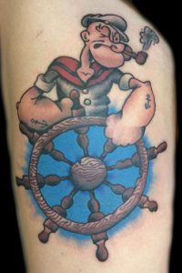 Popeye Tattoo Designs