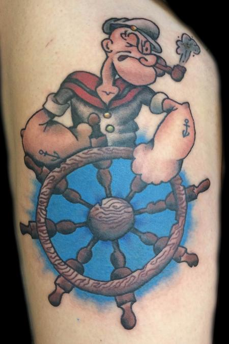 Cartoon Characters Tattoos Designs