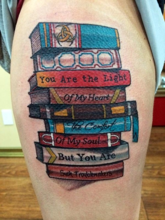 Book Tattoos Designs, Ideas and Meaning | Tattoos For You