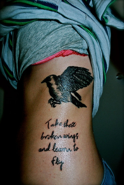 Rib cage tattoos designs ideas and meaning tattoos for you for Girl rib tattoo ideas