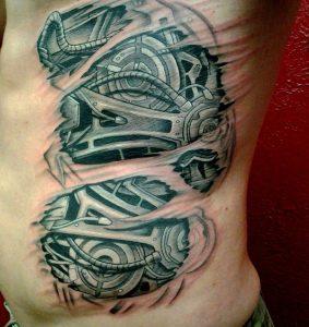 Rib Cage Tattoos for Men