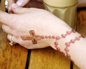 Rosary Bracelet Tattoo