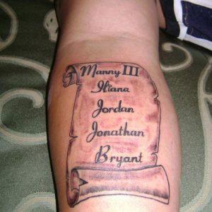 Scroll Tattoos Forearm