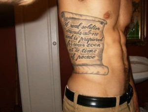 Scroll Tattoos for Guys