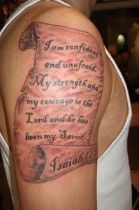 Scroll Tattoos on Arm