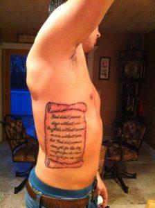 Scroll Tattoos on Ribs